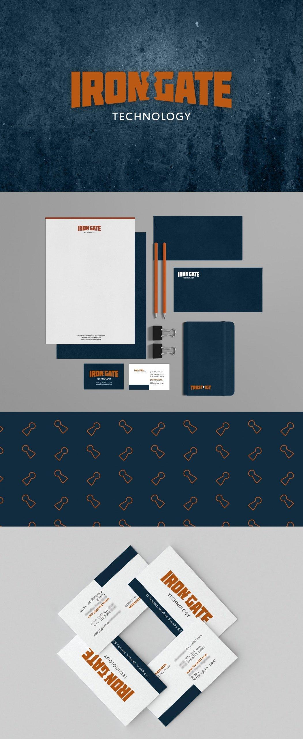 Irongate Technology | branding logo design marketing | Jessica Salinas Design